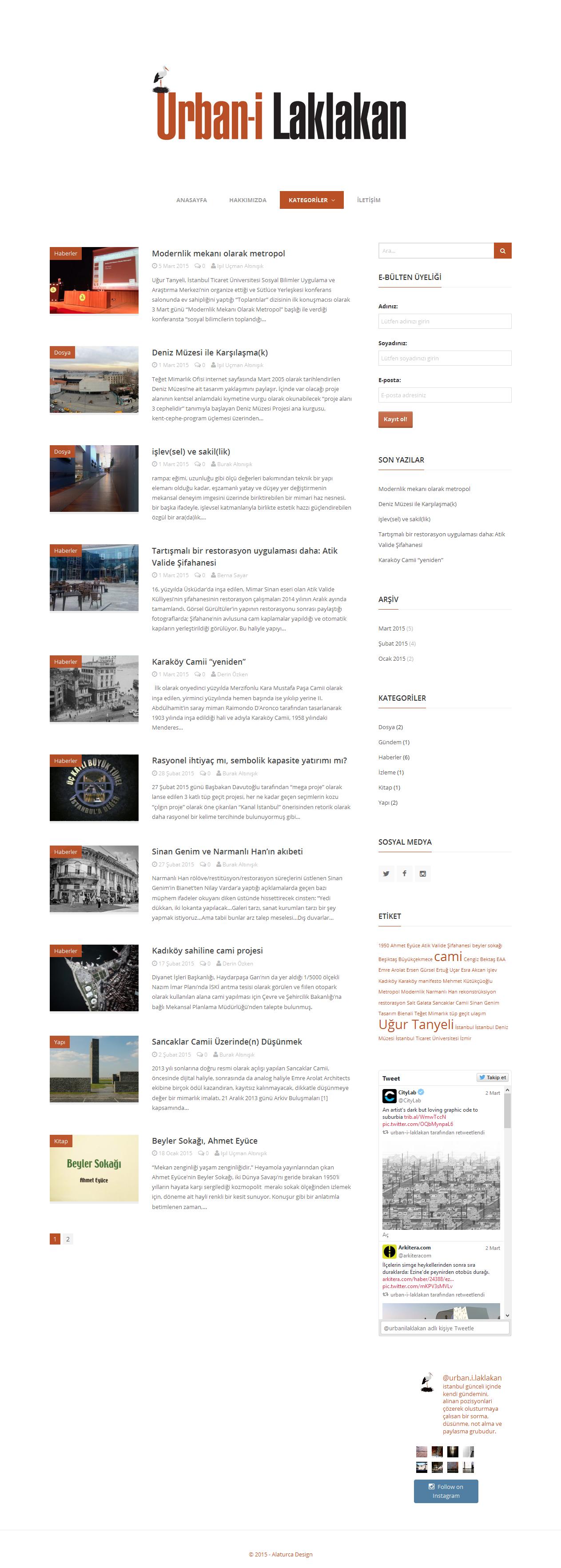 Urbanilaklakan-Kategoriler